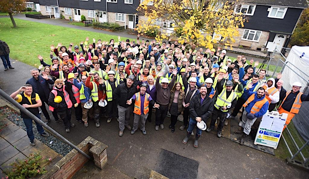 Diy SOS at Mildehall featuring Bateman Groundworks team